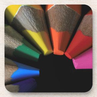 Technicolor Drink Coaster
