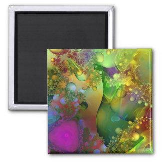 Technicolor Daydreams 2 Inch Square Magnet