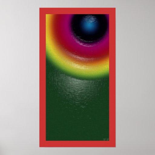 Technicolor Eye Print