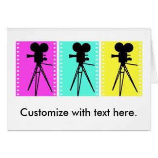 Technicolor Film Strip and Camera Silhouette Card