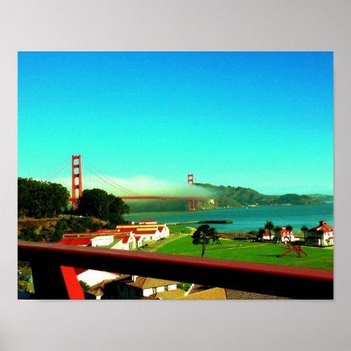 Technicolor Golden Gate Bridge Posters