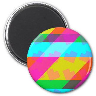 Technicolor Love 2 Inch Round Magnet