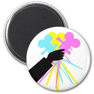 Technicolor Love Bouquet 2 Inch Round Magnet