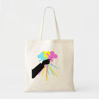 Technicolor Love Bouquet Canvas Bag
