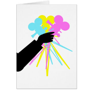 Technicolor Love Bouquet Card