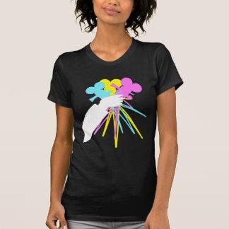 Technicolor Love Bouquet Dark Shirt