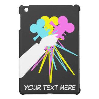 Technicolor Love Bouquet of Movie Cameras for iPad Cover For The iPad Mini