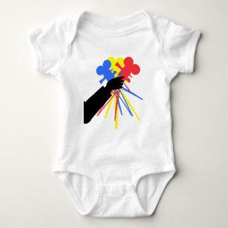 Technicolor Love Bouquet Primary Colors Baby Bodysuit