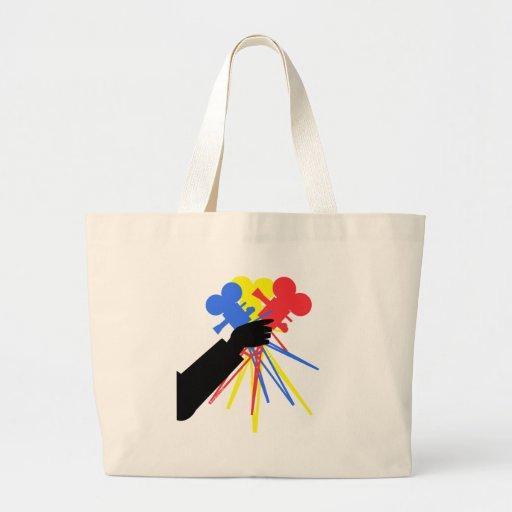 Technicolor Love Bouquet Primary Colors Jumbo Tote Bag