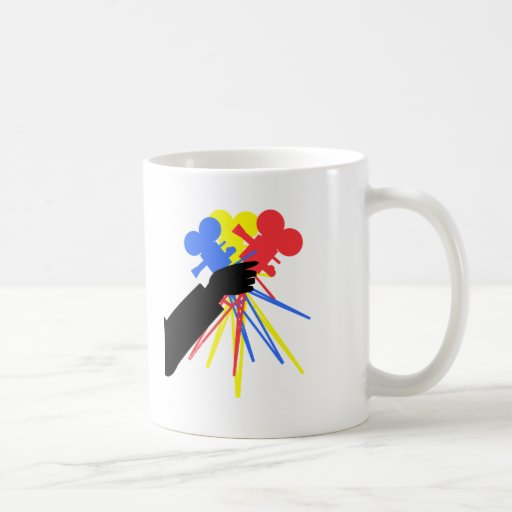 Technicolor Love Bouquet Primary Colors Coffee Mug