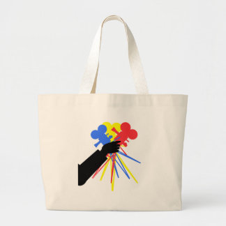 Technicolor Love Bouquet Primary Colors Large Tote Bag