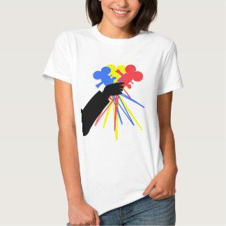 Technicolor Love Bouquet Primary Colors Tee Shirt