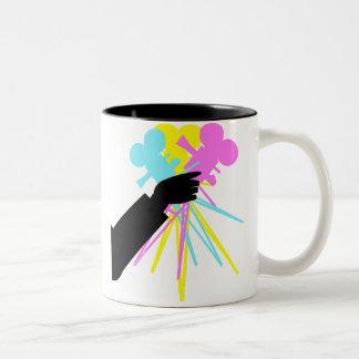 Technicolor Love Bouquet Two-Tone Coffee Mug