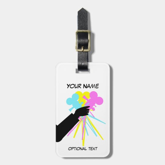 Technicolor Love Bouquet Vintage Movie Camera Bag Tag