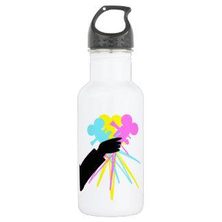 Technicolor Love Bouquet Vintage Movie Camera Water Bottle