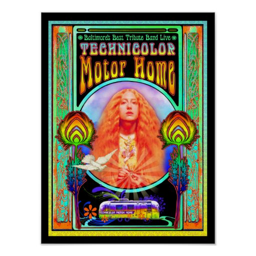 Technicolor Motor Home Band Poster Design