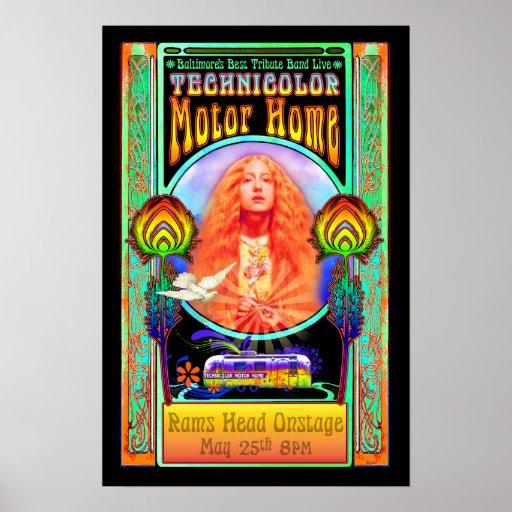 Technicolor Motor Home Band Rock Art Poster