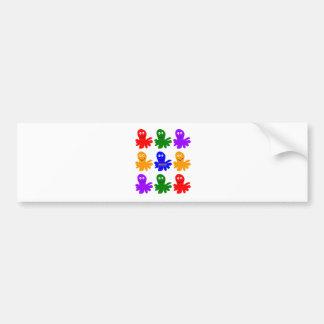 Technicolor Octopus Bumper Stickers