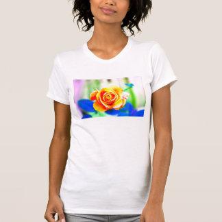 Technicolor Rose Tee Shirt