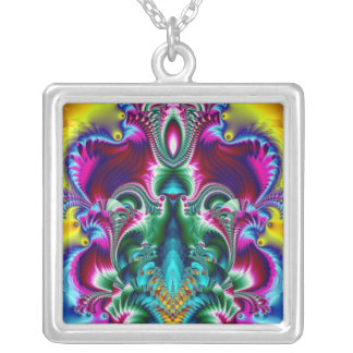 Technicolor Silver Plated Necklace