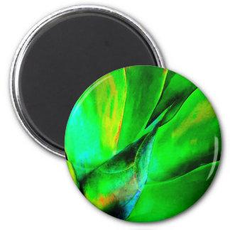 Technicolor Succulent 2 Inch Round Magnet