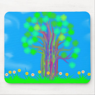 Technicolor Tree Mousepad