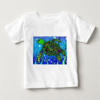 technicolor turtle in the sea baby T-Shirt