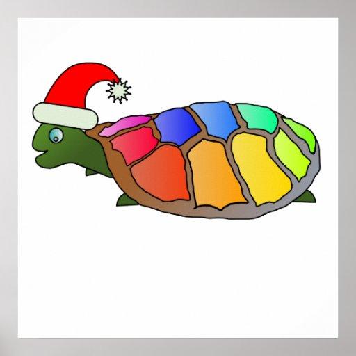 Technicolor Turtle Poster