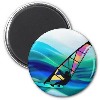 Technicolor Windsurfer 2 Inch Round Magnet