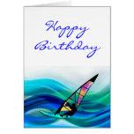 Technicolor Windsurfer Greeting Cards