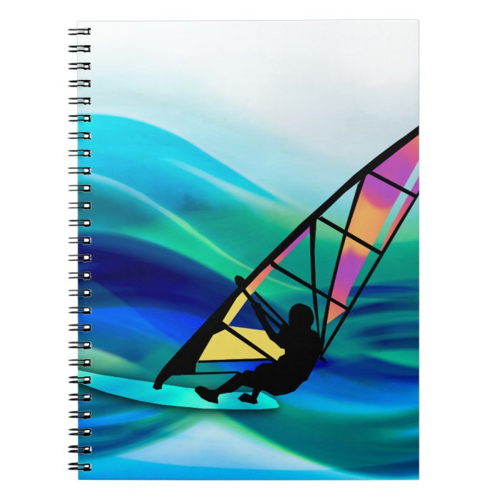 Technicolor Windsurfer in a Typhoon Spiral Notebook
