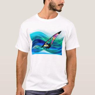 Technicolor Windsurfer in a Typhoon T-Shirt