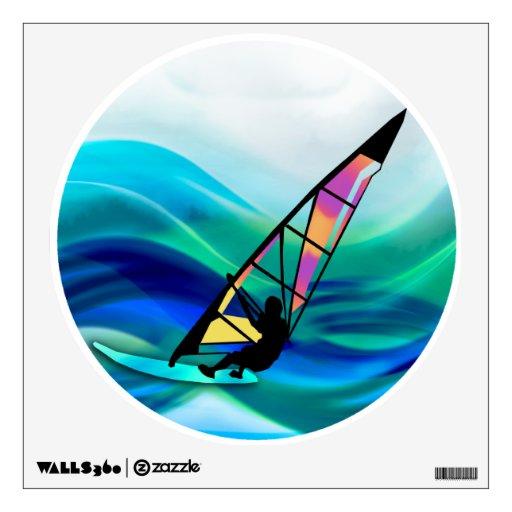 Technicolor Windsurfer in a Typhoon Wall Sticker