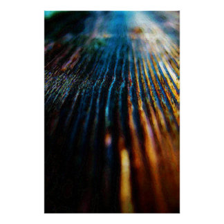Technicolor Wooden Plank Poster
