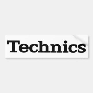 Technics Bumper Sticker
