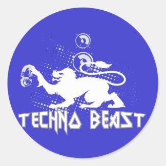 Techno Beast Classic Round Sticker