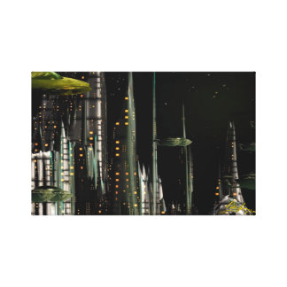 Techno City Canvas Print