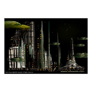 Techno City Poster