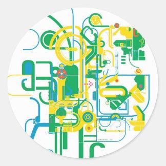 techno cluster sticker