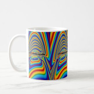 Techno color yawn coffee mug