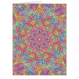 Techno Colors Kaleidoscope Giant Greeting Cards