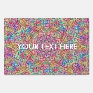 Techno Colors Pattern Sign