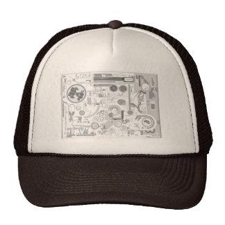 techno computer chip hard drive vector experiment  trucker hat