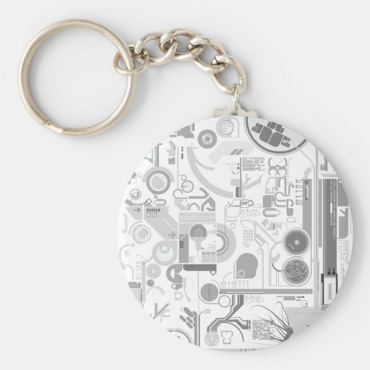 techno computer chip hard drive vector experiment  keychain