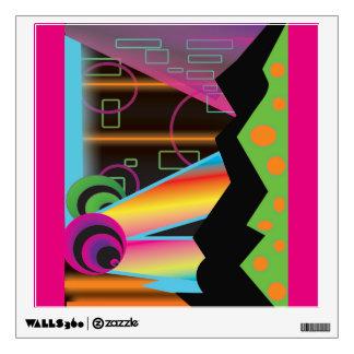 Techno Cosmic Rainbow Galaxy  Wall Decal
