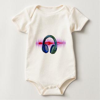 Techno Headphones Baby Bodysuit
