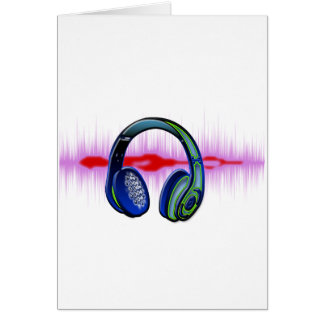 Techno Headphones Card