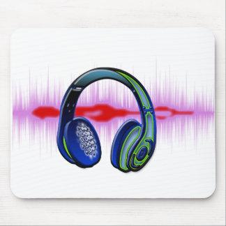Techno Headphones Mousepad