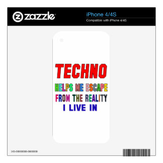 Techno Helps Me Skin For The iPhone 4S