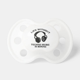 Techno Music designs Pacifier